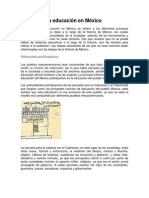 Historia de La Educación en México.