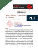 Evaluación de la calidad pedagógica de los MOOCs