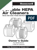 17000 s QuietCare Permanent True Hepa Air Purifier Germ Reduction