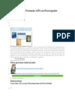 Cómo Usar El Formato APA en Powerpoint