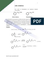 sintesis del acido cinamico
