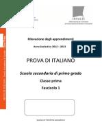 Invalsi Italiano 2012-2013 Prima (1)