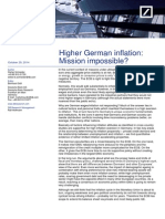 Higher German inflation Mission impossible