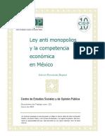 Ensayo Ley Antimonopolios y La Competencia Económica en México - Centro de Estudios Sociales y de Opinión Pública