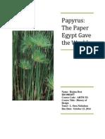 papyrus ancient egypt paper sten