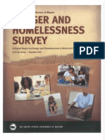 U.S. Conference of Mayors Hunger And Homelessness Report