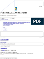 - Varianta 100 - Forum Bacalaureat 2013