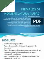 Ejemplos de Nomenclatura (Iupac)
