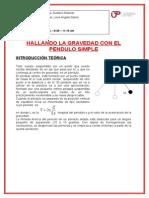 Informe de Fisica Pendulo Simple