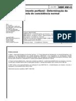 1 NM 43 - Determinação de Massa de Consistência Normal