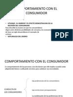 Comportamiento Con El Consumidor