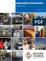 Mayors Council's plan for regional transportation in Metro Vancouver