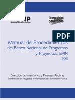 Manual de Procedimiento BPIN 2011