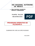 Programa Operativo 2 de Filosofía 09-10