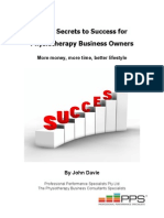 The 9 Secrets of Success for a Physiotherapy Business Owner eBook
