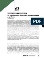 Errejón - La Construcción Discursiva de Identidades Populares