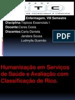 Humanização Em Serviços de Saúde e Avaliação c Om