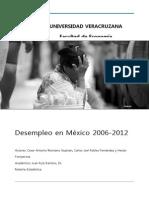 Desempleo en México.