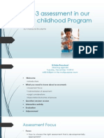 asq-3 assessment in our early childhood program