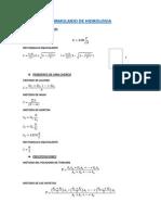 Formulario de Hidrologia aplicada
