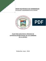 Plan de Autoevaluacion Carreras Definitivo 2014