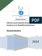 Resumen ejecutivo informe 2014 situación DDHH