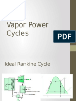 Vapor Power Cycles lecture notes