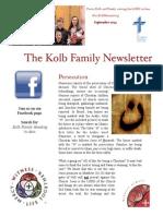 Kolb Family Newsletter September 2014 PDF