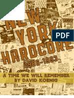 New York Hardcore Book (by David Koenig) 2009