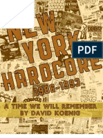 New York Hardcore Book (by David Koenig) 2009