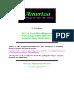 America to Pray or Not to Pray by David Barton