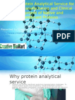 The Right Protein Analytical Service for Research, Manufacturing and Clinical Development of Native and Recombinant Proteins