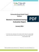 Womens Vocation Sewing Program Evaluation Report