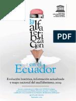 ALFABETIZACION EN EL ECUADOR