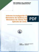 Informe Investigacion Especial 250 10 Ministerio de Defensa Nacional Ministerio de Obras Publicas y Ejercito de Chile Compra Puente Mecano Enero 2011