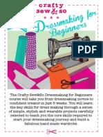Dressmaking for Beginners Booklet Flat