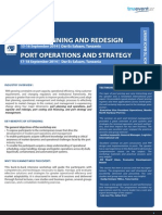 Training on Port Operations, Planning, Redesigning and Strategy