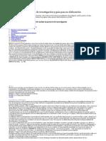 Elementos de un proyecto de investigación y guía para su elaboración