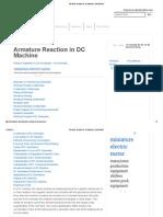 Armature Reaction in DC Machine _ Electrical4u