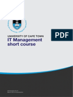 Uct It Management Course Information Pack