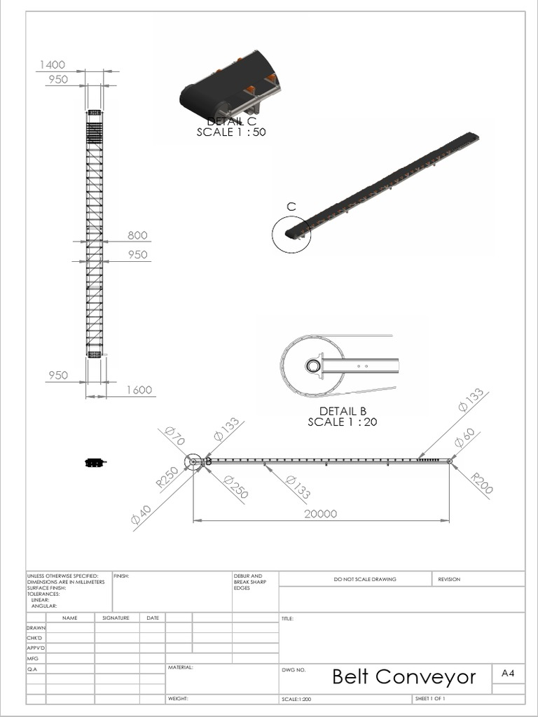 Belt conveyor draw finish ccuart Choice Image