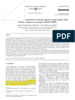 Characterisation of Commercial Ionomer Glasses Using Magic Angle Nuclear Magnetic Resonance