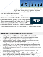 Financial Officer Job Description