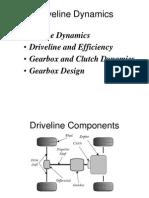 10 0 Driveline Dynamics Notes