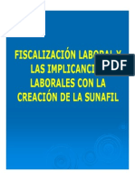 Fiscalizacion Laboral e Implicancias SUNAFIL