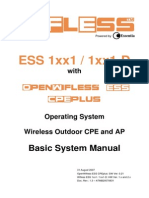 Essentia Wifless ESS 1xx1 & 1xx1-D Basic System Manual - OpenWifless ESS CPEplus Ver 0.21