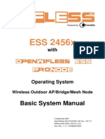 Essentia Wifless ESS 2456x Basic System Manual - OpenWifless ESS ProNODE Ver 1.30