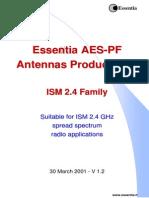 Essentia Antennas AES-PF-2.4 Product Line