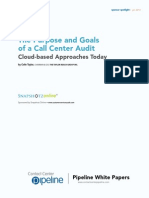 The Purpose and Goals of a Call Center Audit Colin Taylor