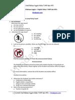 Contoh Soal Bahasa Inggris English Kelas 7 SMP Dan MTs Hindayani.com 1